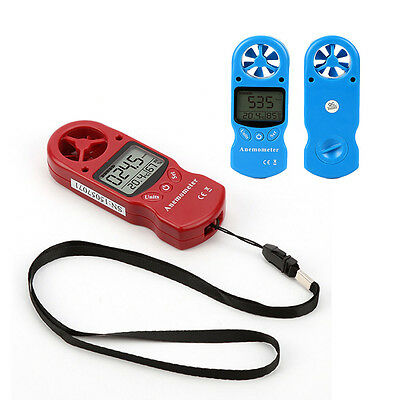 Anemometer, Digital LCD Wind Speed Test Meter Air Flow for Windsurfing, Sailing