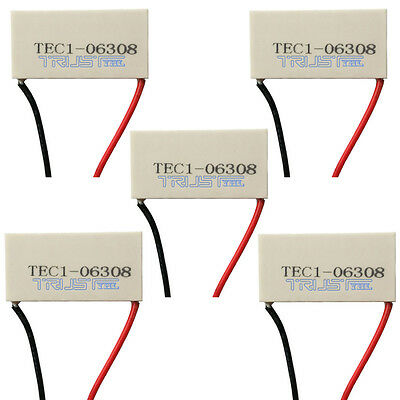 5pcs 40 x20mm TEC1-06308 Electronic Thermoelectric Cooler Peltier Plate Module