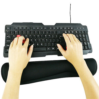 Soft Gel Cushion Wrist Support Pad Computer Keyboard Comfort Mat Arm Rest Black