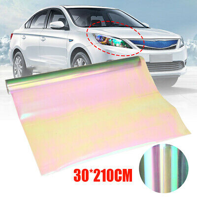 "12""x 84"" Chameleon Clear Car SUV Headlight Taillight Vinyl Tint Film Wrap Sheet"