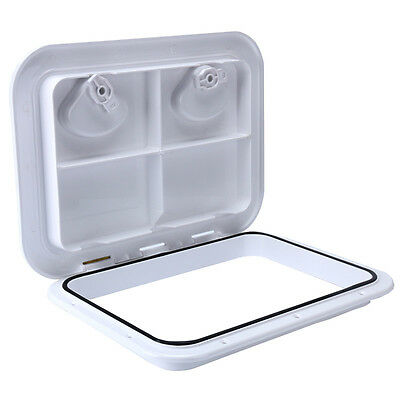 "Amarine-made 17-1/4"" x 12-3/8"" ACCESS HATCH & LID Marine RV-White (315mm*440mm)"