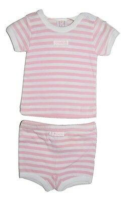 Marquise Baby Girl Top And Shorts Underwear - Pink Stripes Size 0000 Newborn