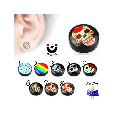 NEW 1X Magnetic Non-Piercing Logo Plug AUS STORE Cheater, Earring, Faker