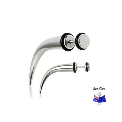 NEW 1X Curved Steel Fake Taper AUS STORE Cheater, Earring