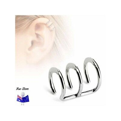 NEW 1X Non-Piercing Triple Ring AUS STORE Helix, Cheater, Faker