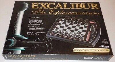 Excalibur Explorer Model 922E Complete Boxed Chess Set Game Electronic WORKS