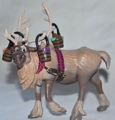Disney Store Authentic SVEN FIGURINE Cake TOPPER Toy FROZEN FEVER Reindeer NEW