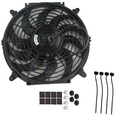 "12"" 80W Car Electric Radiator Intercooler 12V Slimline Cooling Fan Push Pull Pro"