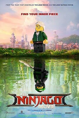 THE LEGO NINJAGO MOVIE MOVIE POSTER Original MINT DS 27x40 Advance Style