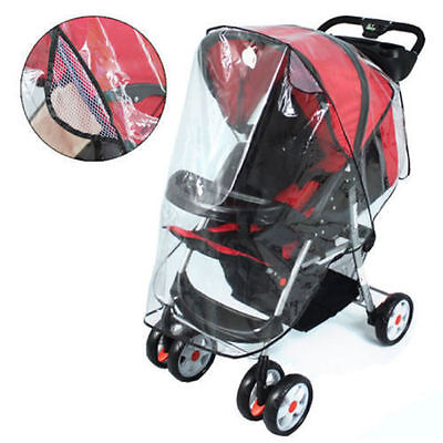 Transparent Buggy Pram Rain Cover Wind Dust Shield For Baby Strollers Pushchairs