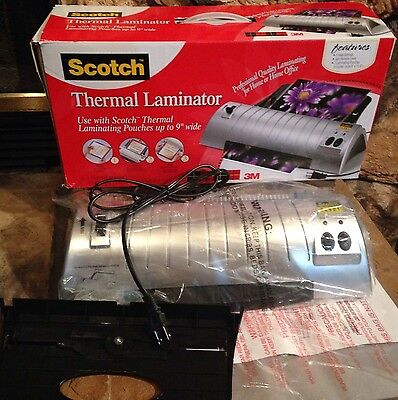 """Scotch TL901 Thermal Laminator - 9"""" Lamination Width - 3 mil to 5 mil Thickness"""