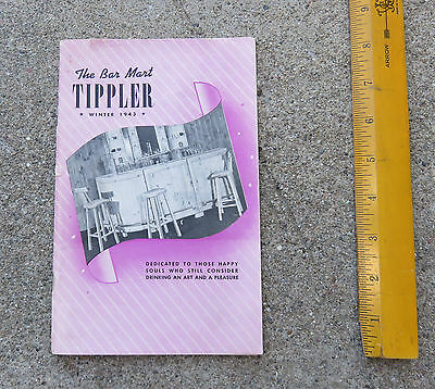 Vintage 1943 The Bar Mart Tippler Catalog Glasswaqre Bars Cocktail Items Etc