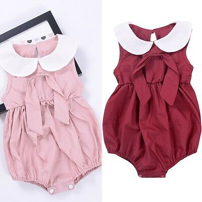 Newborn Infant Toddler Baby Girl Romper Bodysuit Jumpsuit Outfit Sunsuit Clothes