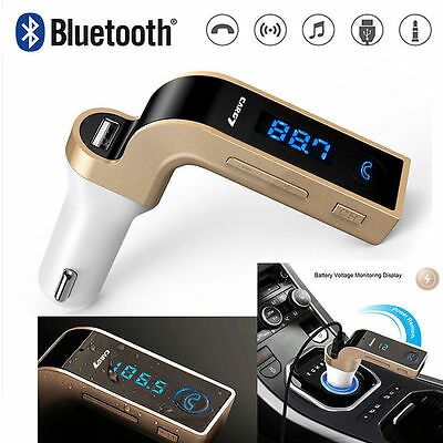 Wireless LCD Bluetooth Car MP3 FM Transmitter AUX SD USB Charger Handsfree Kit