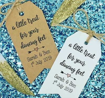 1fbc2c23b6cd PERSONALISED FLIP FLOPS And Dancing Shoes Wedding Favour Gift Tag ...