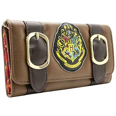 New Official Warner Harry Potter Hogwarts Alumni Brown Id & Card Tri-Fold Purse