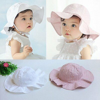 Toddler Infant Baby Girls Outdoor Bucket Hats Summer Sun Beach Bonnet Cap