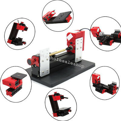 6in1 Jigsaw Milling Lathe Drilling Machine Wood/Metal/Acrylic DIY Tool Works CE
