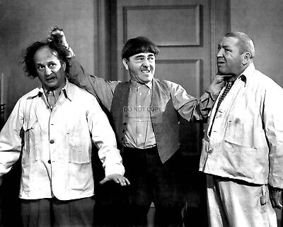 The Three Stooges Larry Fine, Moe & Curly Howard - 8X10 Publicity Photo (Nn-236)