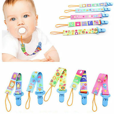 1PCS Baby Unisex Boys Girls Dummy Pacifier Soother Nipple Strap Clip Holder