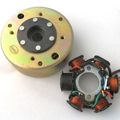 QUALIFIED Magneto Stator AC 6 POLE FLYWHEEL PULLER SCOOTER GY6 125CC 150CC