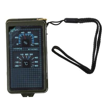 Multipurpose Outdoor Military Army Wandern Reise Kompass mit Thermometer