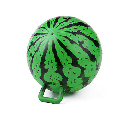 9inch Inflatable Blowup Beach Watermelon Ball Toy Swimming Balloon With Handle H