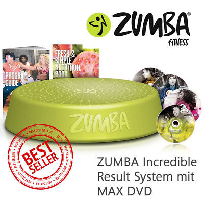 Zumba Fitness Incredible Results DVD-Set + Zumba Step Rizer Stepper Exhilarate
