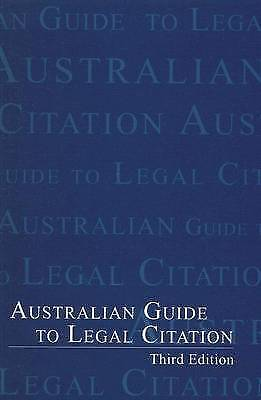 Australian Guide to Legal Citation