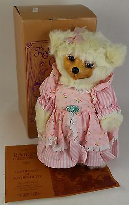 VTG RARE Robert Raikes ASP Little Miss Muffet Wood Face Teddy Bear Box COA