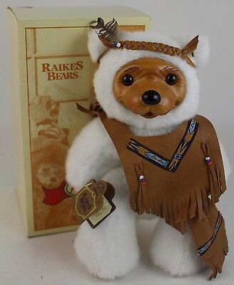 VTG RARE 33/35 LE Robert Raikes ALVIN Wood Face Collectible Teddy Bear in Box
