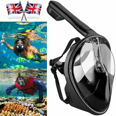 Breath Full Face Mask Surface Diving Snorkel Scuba Underwater Swimming Tools UK