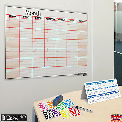 Laminated Monthly Planner Wall Chart Month Planner ✔Any Month,Any Year!+Gift ✔UK