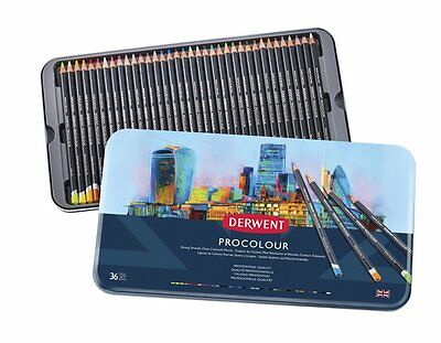 Derwent Procolour Professional Quality Artist Pencil Tin Set of 36 Colours