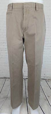 Flat Front Khaki Relaxed Fit Levis Dockers Preppy CHino Trousers W34 EB75