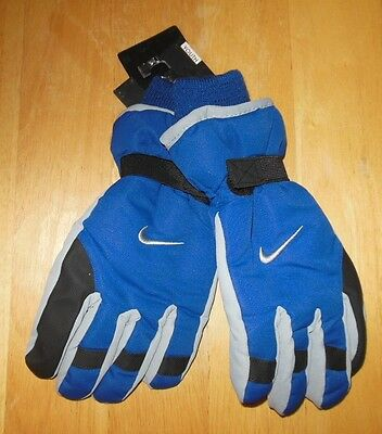 Nike Blue Ski Gloves 3M Thinsulate Insulation Boys Size Youth 8/20 New
