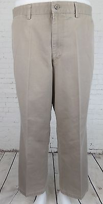 Flat Front Khaki Individual Fit Levis Dockers Preppy CHino Trousers W38 EB76