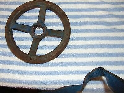 Large Cast Iron 8 Inch Water Valve Handle Steampunk  Industrial Art
