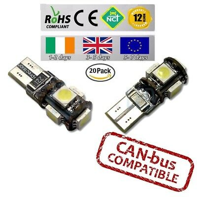 20x CanBus LED No Error 6000k HID White T10 w5w 501 194 Parking Bulbs Side Light