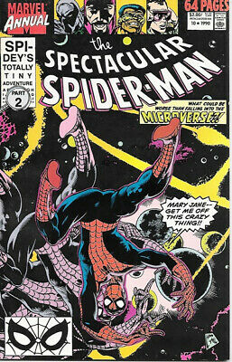 The Spectacular Spider-Man Comic Book Annual #10, Marvel Comics 1990 NEAR MINT