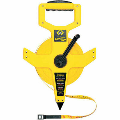 CK Surveyors Tape Measure Imperial & Metric 330ft / 100m 13mm
