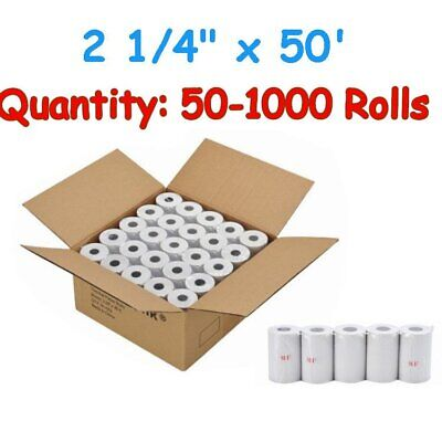 "50-1000 Rolls Case 2 1/4"" 57mm x 50' Thermal Cash Register POS Receipt Paper New"