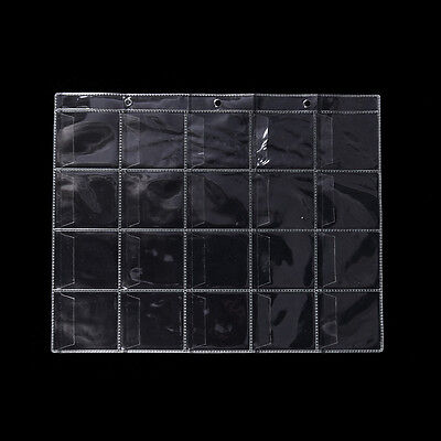 10 Pages 20 Pockets Plastic Coin Holders Storage Collection Money Album Case FO