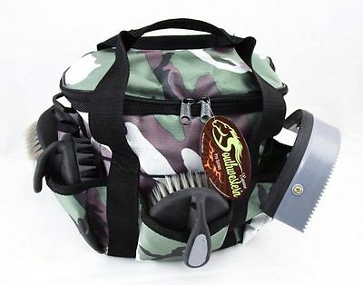 Deluxe Grooming Kit - By Southwestern Equine - Camo Hunter Green