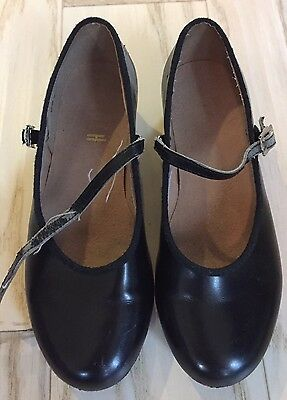 Bloch Techno Tap Girls Size 1 Tap Shoes, Pre-Owned