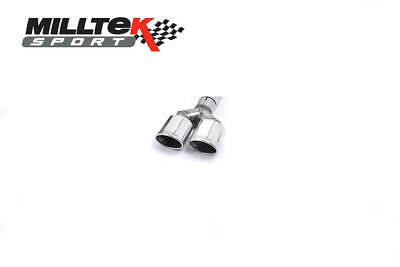 VW Golf MK7 GTI Milltek Sport Polished LH Twin Oval Exhaust Tip Assembly