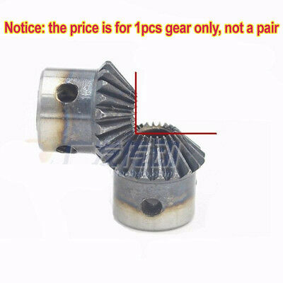 Motor Bevel Gear 1.0 Mod 20 Tooth 90° Pairing Bore 5/6/6.35/8mm Metal Bevel Gear