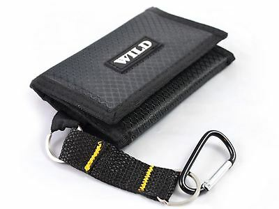 New Mens Boys Trifold Sport Wallet Purse With Zip And Belt Hook