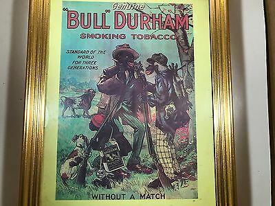 Black Americana Advertising Framed Print Dull Durham Tobacco Without a Match
