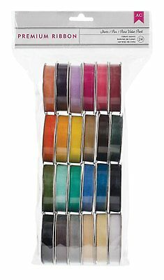 American Crafts Solid Sheer Value Ribbon 4 feet Pack of 24